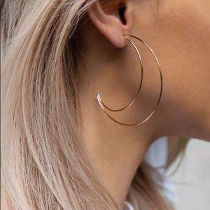 Crescent Moon Dangles Earrings Silver
